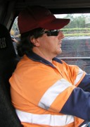 Driver wearing a SmartCap developed by CRCMining