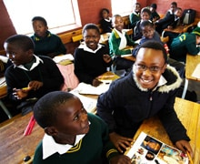 Children in South Africa, one of the countries where more patients now have access to vision care.