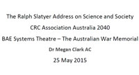 Dr Megan Clark AC presentati