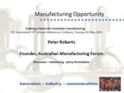 Peter Roberts presentation Australia 2040