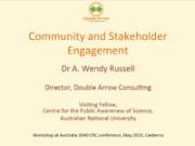Wendy Russell workshop presentation Australia 2040
