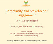 Wendy Russell workshop presentation Australia 2040