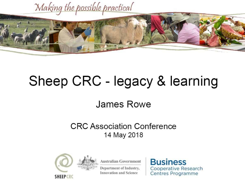 Sheep CRC legacy